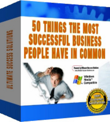 Product picture 50 Things The Most Successful Business People Have